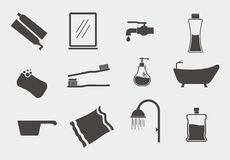 Bathroom Theme Icon Set vector illustration