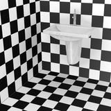 Bathroom tiles - black and white pattern Royalty Free Stock Image