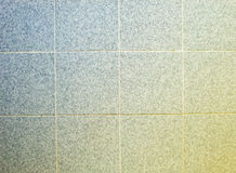 Bathroom tiles, blue and yellow Royalty Free Stock Image
