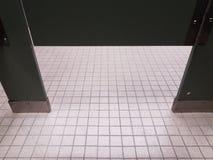 Bathroom tiles and bathroom or restroom stall door. Bathroom tiles and bathroom or restroom or lavatory stall door stock image