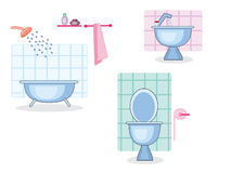 Bathroom and toilet Stock Photos