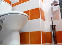 Bathroom - toilet. Interior of a modern bathroom design, toilet Stock Images