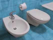 Bathroom toilet and bidet Royalty Free Stock Photography