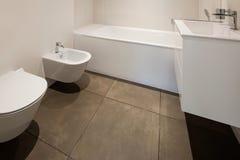 Bathroom, toilet and bidet Royalty Free Stock Image