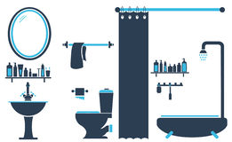 Bathroom Toilet Design Set Vector Stock Image