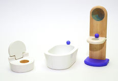 Bathroom and toilet for dolls Stock Photography