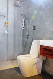 Bathroom and toilet in loft style Royalty Free Stock Photos