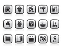 Bathroom and toilet objects and icons Stock Images