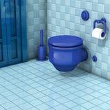 Bathroom with toilet tiles Stock Photos