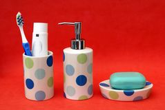 Bathroom toiletries Royalty Free Stock Photo