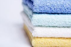 Bathroom towels stock images