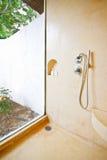 Bathroom in a tropical hotel Stock Photo