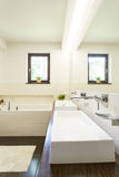 Bathroom with two wash basins Stock Photos
