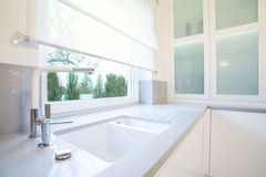 Bathroom unit. Picture of white elegant bathroom unit Royalty Free Stock Image
