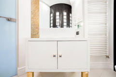 Bathroom unit. Picture of white elegant bathroom unit Royalty Free Stock Photos