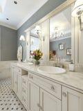 Bathroom Vanities classic style Royalty Free Stock Image