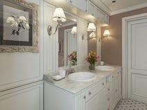 Bathroom Vanities classic style Royalty Free Stock Photography