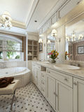 Bathroom Vanities classic style Stock Photography