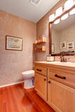 Bathroom vanity cabinet with mirror Stock Photos
