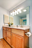 Bathroom vanity cabinet Royalty Free Stock Images