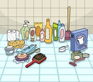 Bathroom, with variuos objects Royalty Free Stock Photo