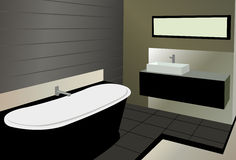 Bathroom vector Stock Photography