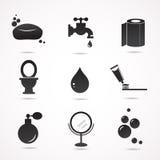Bathroom vector icon set Royalty Free Stock Photos