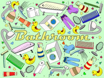 Bathroom vector illustration Royalty Free Stock Photography