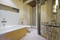 Bathroom in a warehouse conversion Royalty Free Stock Photography