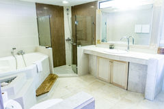 Bathroom with a washbasin, hotel bathroom interior Stock Images