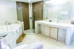 Bathroom with a washbasin, hotel bathroom interior Stock Images
