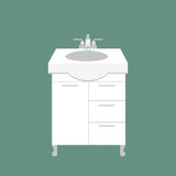 Bathroom washbasin icon colored with process water savings symbols hygiene and clean household washing cleaning beauty Royalty Free Stock Photo