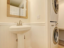 Bathroom with washer and dryer Royalty Free Stock Photo