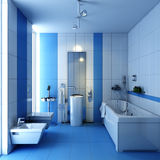 Bathroom wc with wash-tub Stock Image