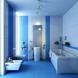 Bathroom wc with wash-tub. 3d render bathroom wc with wash-tub Stock Image