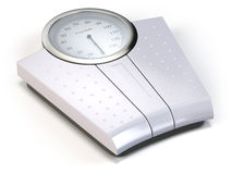 Bathroom weight scale  on white. 3d Stock Photos