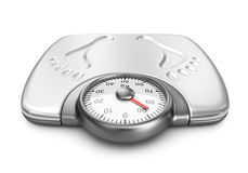 Bathroom weight scales. 3D Icon isolated. On white background Royalty Free Stock Photography
