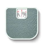 Bathroom weight scales Royalty Free Stock Image