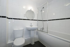 Bathroom in white Royalty Free Stock Images