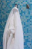 Bathroom with white gown royalty free stock photos