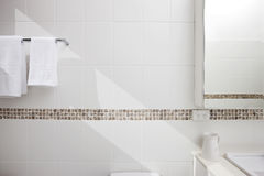 Bathroom White Tiles Detail Background Royalty Free Stock Image