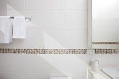 Bathroom White Tiles Background Royalty Free Stock Image