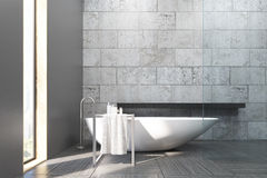 Bathroom with white tub Royalty Free Stock Images