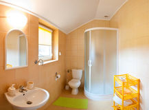 Bathroom wide angle. Wide angle view of an elegant bathroom Stock Photo