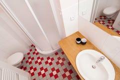 Bathroom. Wide angle view of generic bathroom Stock Photos