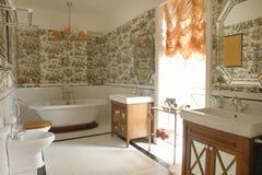 Bathroom with window Stock Images