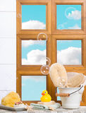 Bathroom Window Royalty Free Stock Photo