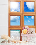 Bathroom Window Royalty Free Stock Image