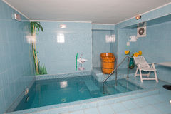 Bathroom With Small Swimming Pool Stock Photo