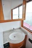 Bathroom in yacht Stock Photo